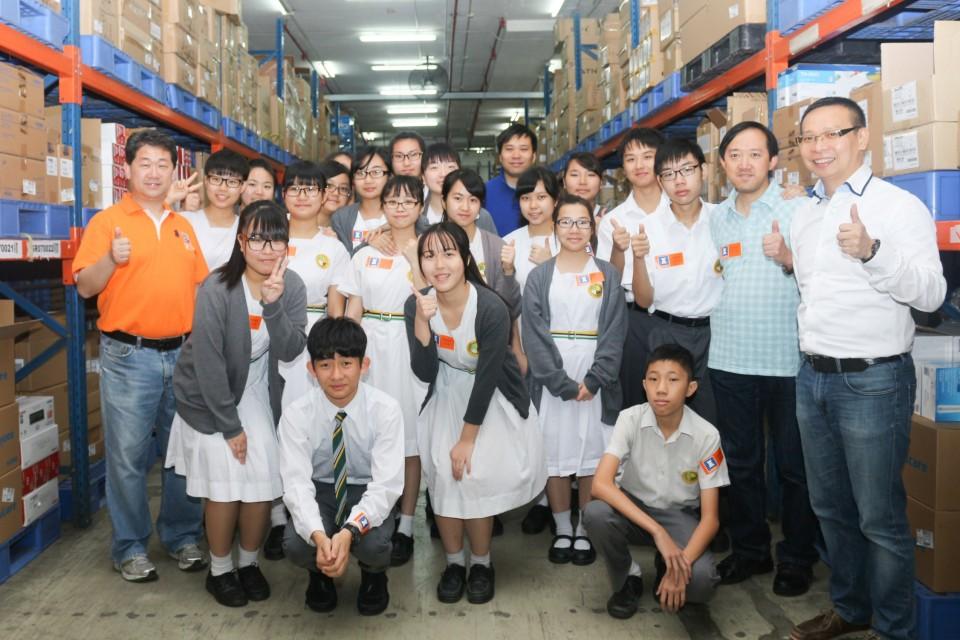 豐澤導師講解貨倉內完善嚴密的運作流程