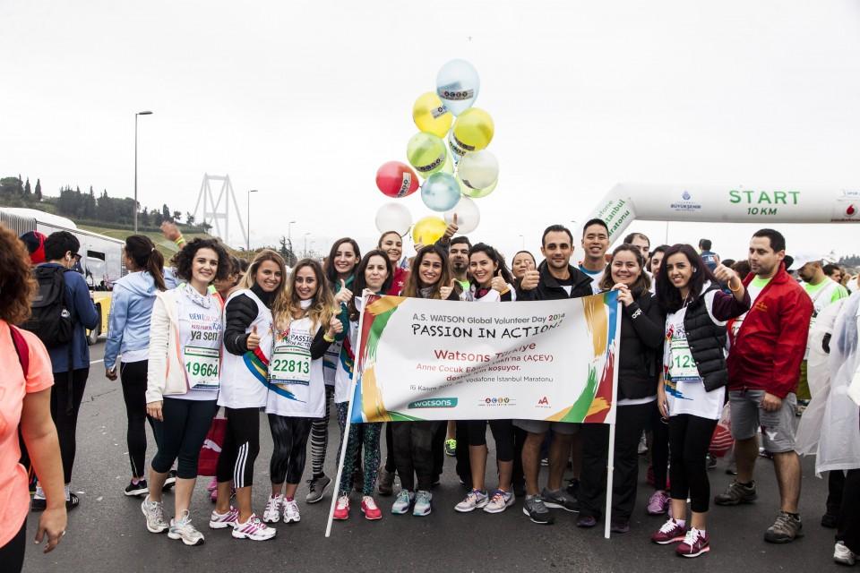 員工於伊斯坦堡馬拉松開始前合照