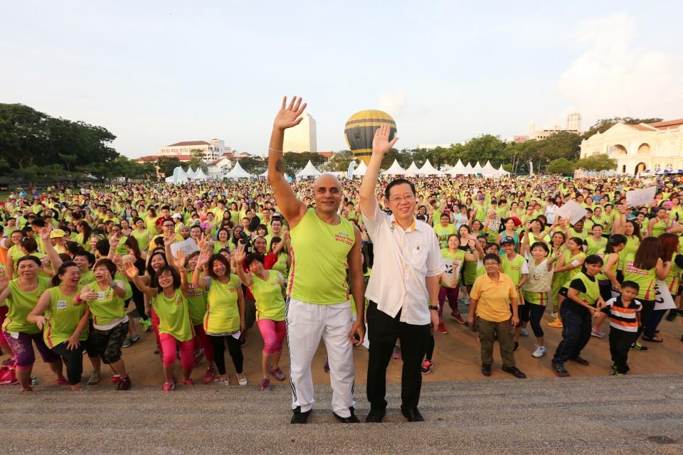 馬來西亞舉辦舞動全城活動,希望透過跳舞向大眾推動積極健康的生活態度